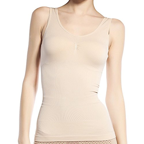Insasta Women Slimming Tank Top Tummy Control Seamless Vest Cami Shaper Body Shape Wear-Size-M