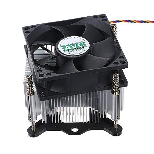 Docooler Ventilateurs de Heatpipe CPU Le radiateur Silencieux Prend en Charge Le Thermostat de contrôle de Vitesse 12V 1.05A d'Intel 1155 1150 1151 PWM pour Ordinateur