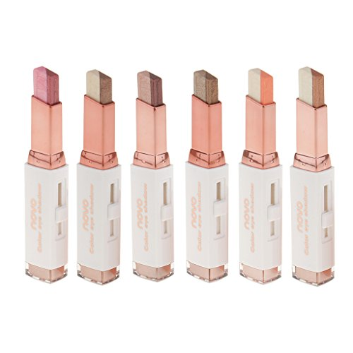 Baosity 6 Stk. Dual Color Eye Shadow Shimmer Eyeshadow Lidschatten Make-up Pen Stick Set - Dual Shadow
