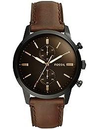 Fossil Reloj Cronógrafo para Hombre de Cuarzo con Correa en Piel FS5437