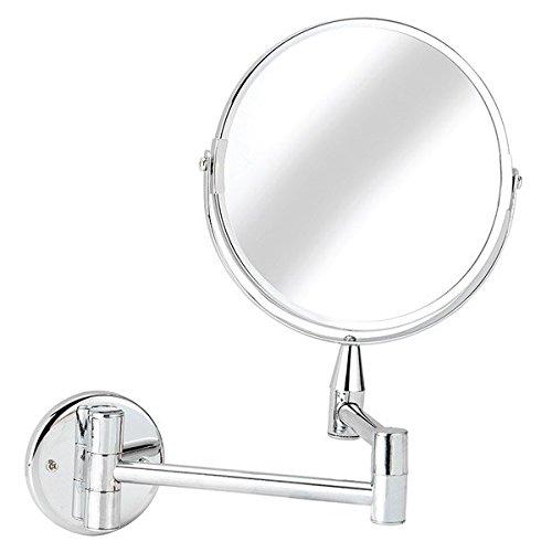 "Kitsch(TM) 200 mm (8"") DIA Swivel Makeup/Shaving C.P. Metallic Frame Mirror with 3X Magnification"