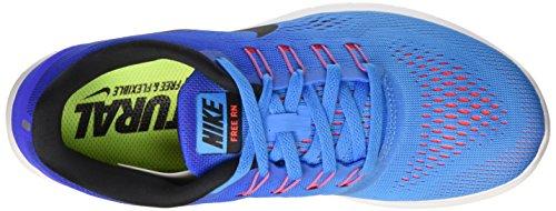 Nike Damen Wmns Free Rn Laufschuhe Mehrfarbig (Blue Glow/Black-Racer Blue)