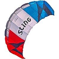 FLEXIFOIL 2.4m Erwachsene , Ältere Kinder Sting-Power-Drachen . Sommerstrickdrachen am Strand , Stuntspielzeug für draußen , Sportspiele und Familienaktivitäten . Professionelle Vier-Saiten-Leine & Vierfach-Griffe . Leicht zu fliegen .