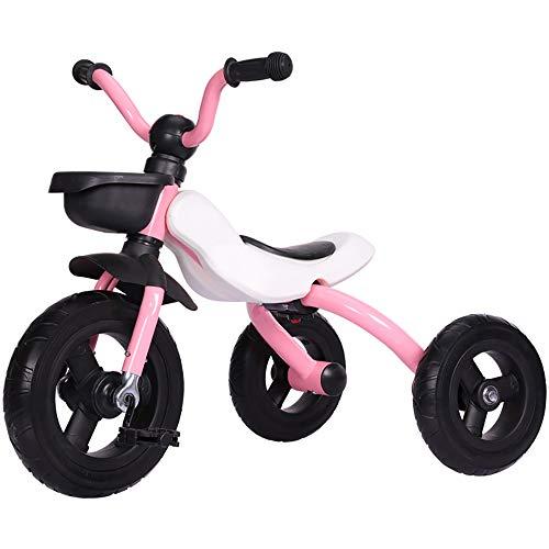 Aocean Baby Kinder Dreirad Zusammenklappbar 18 Monate bis 5 Jahre mit Trike Baby Kinderwagen Flüsterleise Gummireifen Belastbarkeit bis 30 kg, Pink
