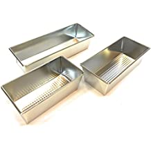 Orocolato Home Juego de 3 moldes rectangulares antiadherentes para Horno, para Tartas de fontanería,