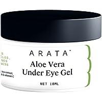 Arata Aloe Vera Under Eye Gel For Dark Circles, Fine Lines & Puffiness (10 ML) | Infused With Coffee Oil, Black Tea…