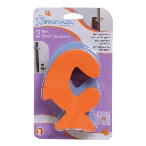 Dreambaby 2 Pack Fish Door Stopper (Orange and Blue)