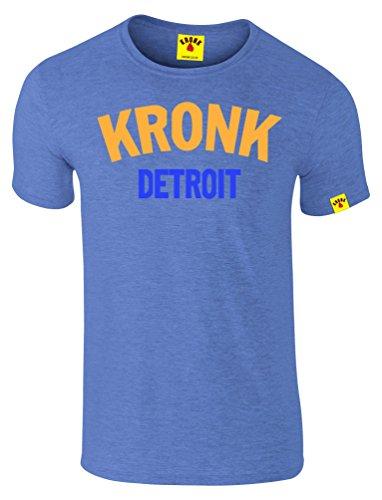 Kronk - T-shirt - Uomo, Bleu - royal blue heather, Small