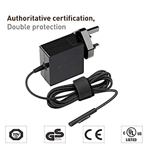 TAIFU 15V 1 6A 24W Power Supply Charger Adapter Replacement Magnetic  Surface Pro 4 M3 Charger Adapte
