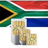 Vodacom SIM Südafrika Carte SIM pour l'Afrique du Sud (tel/SMS/données)–& Micro Sim standard–Sud de Carte Sim Prépayée africaine...