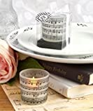 Lot de 6 Note de musique Conception Candle Wedding and Party Favours