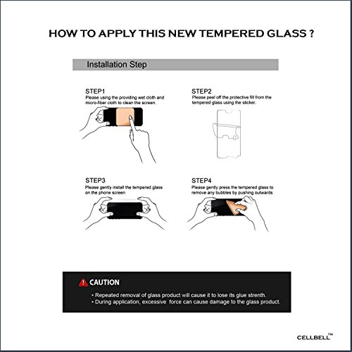 Cellbell TM Sony Xperia Z3 Compact (transparent) 9H Premium Tempered glass screen protector with FREE Installation Kit
