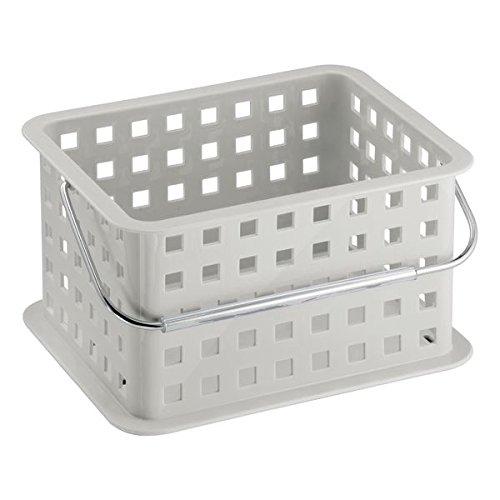 mDesign Caja perfecta como caja almacenaje para juguetes – También ideal como caja para guardar ropa – Pack de 3 con unas medidas de 23,5 cm x 17,8 cm x 12,7 cm en gris claro
