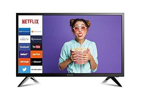 DYON Smart 24 60 cm (24 Zoll) Fernseher (Smart LED TV & HD Triple Tuner mit HbbTV und Fernbedienung inkl. Netflix-Taste)