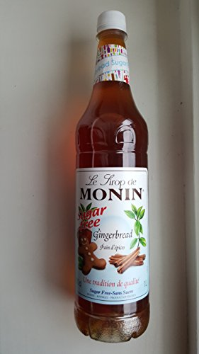 Monin Premium Sugar Free Gingerbread Syrup 1 Litre 41wsV1LRYdL