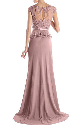 Sunvary Glamour Rund Damen Spitze Band Arm Abendkleider Lang Mutterkleid Ballkleider Wassermelone