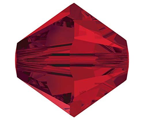 Bicone Siam (48pcs Light Siam 227 Xilion Bicone Glas Kristalle Rot 5328 Perlen Facettierten Strasssteinen 3mm)