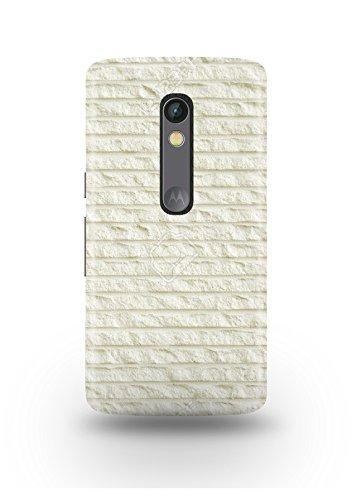 Moto X Play Cover,Moto X Play Case,Moto X Play Back Cover,White Bricks Moto X Play Mobile Cover By The Shopmetro-12263