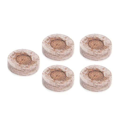 Harlls 5pcs 30mm Tourbe granulés Bouchons de démarrage de semences efficacité de Bloc de semis de palettes de Sol Expansion Rapide pour la Transplantation de Plantation - Brun