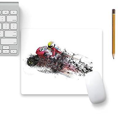 Colorpur Motorbike Bike Sport Designer Mouse Pad Black Base - 8 in x 7 in | Artist: WonderfulDreamPicture