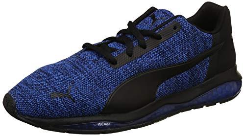 Puma Unisex Black-Strong Blue Running Shoes - 8 UK/India (42 EU)(4059506361579)