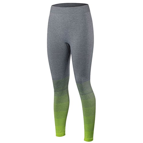 Zhhlaixing Comfortable Women's Sports Gradient color Pants Stretch Tight Yoga Pants Fluorescent Green