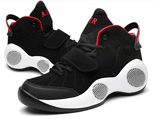 Männer Breathable Extra große dickere Bewegung Casual Running Basketball Schuhe Sneakers Outdoor Schuhe black and red