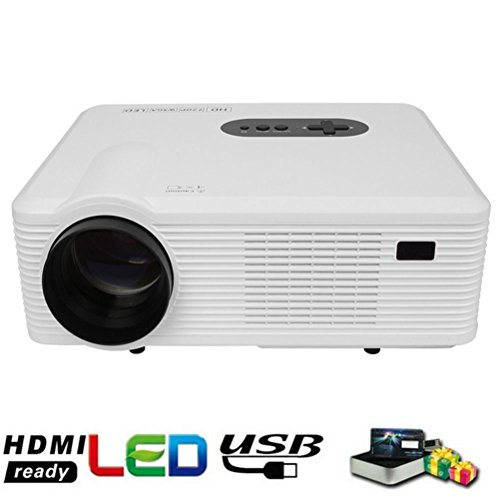 Proyector Portátil Video Proyector LCD HD 1080p 3000 Eficiencia luminosa LED Multimedia...