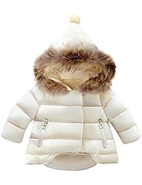 Giacche del cappotto di Parka del ragazzo delle neonate Giacche sveglie con cappuccio sveglio di inverno caldo...