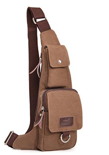 Men-Outdoor-Sports-Canvas-Shoulder-Bag-Multifunctional-Handbag-Travel-Gear-imbalance-backpack-Tactical-daypack-Crossbody-Hiking-Cycling-Messenger-Bag-Coffee