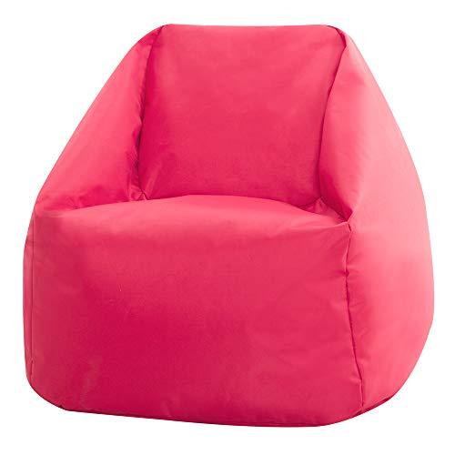 Bean Bag Bazaar Hi-Rest Chair - Kids and Teens - Indoor Outdoor Childrens BeanBag (Pink, Small)