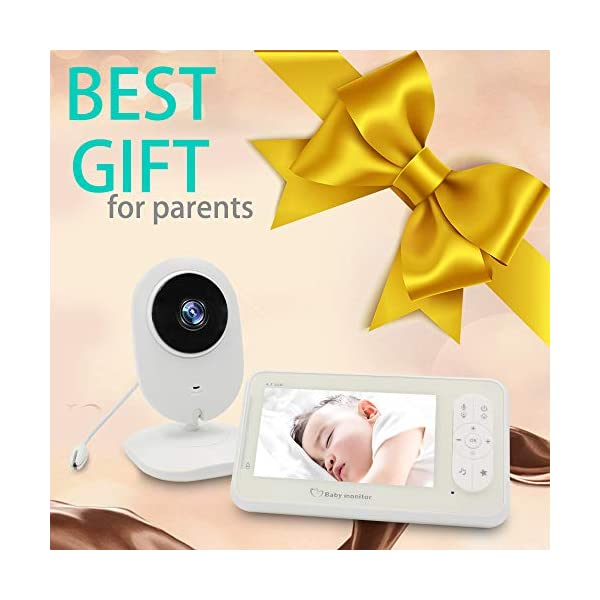 "Video Baby Monitor Camera and Audio Baby Monitor' 4.3"" Two Way Baby Monitor Video with Temperature Sensor Auto Night Vision Baby Monitor Long Distance XinXuan Direct 【Highly Recommended】:Video Baby Monitor Is The Best Choose For You To Take Care The Baby.No Matter You Are In Any Corner Of The Home ,You Can Check The Kid's Situation Through The Baby Monitor At Any Time. 【Night Vision & Temperature Monitoring】:This Digital Video Camera Has 8 Infrared Led Lights, Which Can Be Used During The Day And Night;Video Digital Baby Camera Is Equipped With Temperature Sensors To Monitor The Health Of The Baby At Any Time 【4.3""LCD Display & 2-Way Talk】4.3"" Color High Resolution Display To Watch Baby,The Monitor Can Be Carried Or Hang The Monitor The Waist; When The Child Is Awake Or Playing Noisily ,It Can Communicate With The Baby Quickly . So That The Child Can Hear The Parent's Voice In The Fastest Time, Best Baby Video Monitor 6"