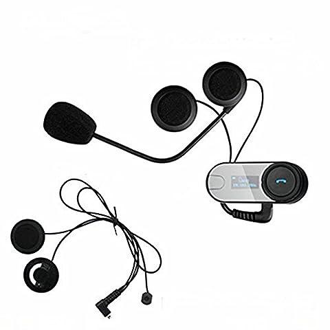 Boblov TCOM-SC W/Screen Bluetooth Motorcycle Motorrad Sturzhelm 800M Intercom Headset (TCOM*1+Soft Earphone+Bracket)