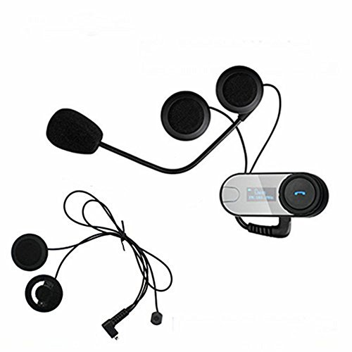 Boblov TCOM-SC W/Screen Motorcycle Motorrad Sturzhelm 800M Intercom Headset (TCOM*1+Soft Earphone+Bracket)