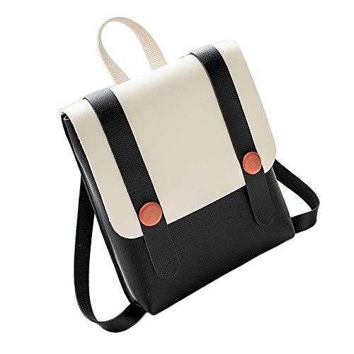 Bluestercool Femme Fille Mode Loisir Patchwork Sac d'école Sac à Dos en Cuir PU Sac d'épaule Mini Bag