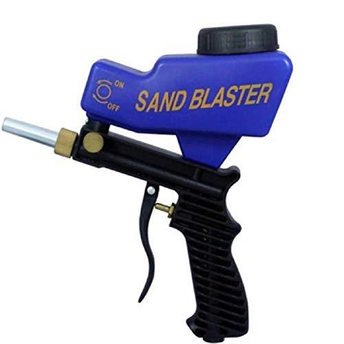 Koojawind Tragbarer Sand Blaster Sandstrahler-Werkzeugsatz Soda Blaster, Professionelle Sandstrahlmittel Medien, Schwerkraft-Sandstrahlpistole Basteln Heimwerken Glas SpiegeläTzwerkzeug-Sand Blaster -