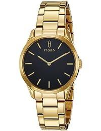 Fjord Analog Black Dial Women's Watch - FJ-6028-33