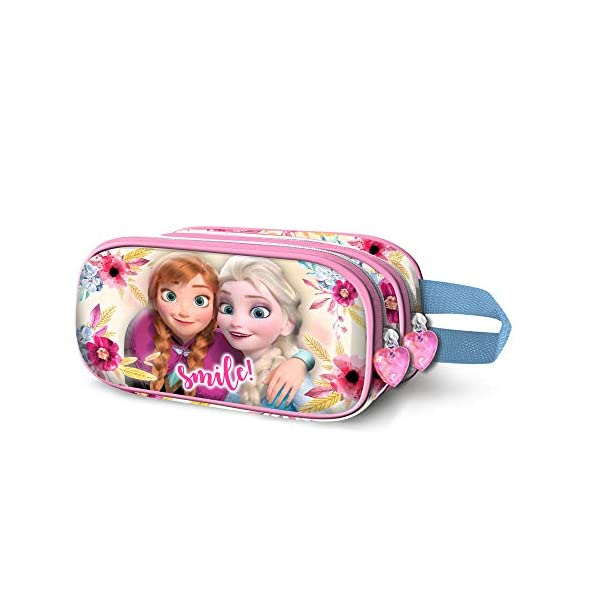 Karactermania Frozen Smile-astuccio Portatutto 3D Doppio Estuches 22 Centimeters Multicolor (Multicolour)