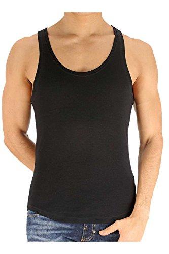 Dsquared² Classic Knit Herren Unterwäsche, Tanktop, Farbe: Weiß, Schwarz, Grau, Shirt Top, Unterhemd RIB COTTON STRETCH Schwarz