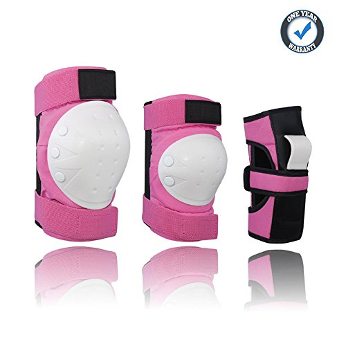 Youth Sports Knee Elbow Pads Set...