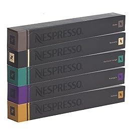 NESPRESSO Capsule Originali Caffe Assortimento, 50 Capsule – 10x Roma 10x Ristretto 10x Fortissio 10x Arpeggio 10x Volluto – compatibili originali