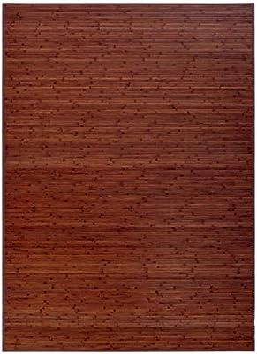 LOLAhome Factory - Alfombra de Bambú para Salón o Comedor, Marrón, 180 x 250 cm