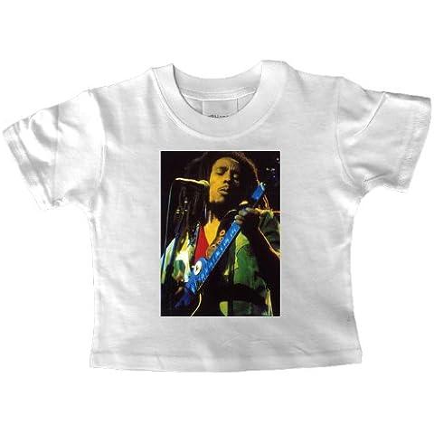 Bob Marley niños T-camiseta de manga corta de sol tocando la guitarra