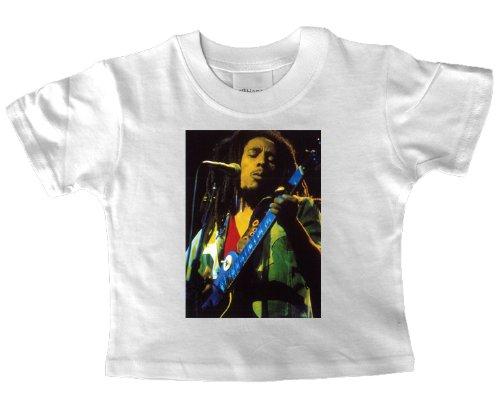 Bob Marley che suona la chitarra Baby T Shirt white 1-2 years old