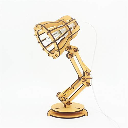 DIY Pixar de madera Lámpara De Mesa Lámpara de escritorio Luces de lectura Escalamiento de brazo largo para sala de estudio, dormitorio de oficina,A