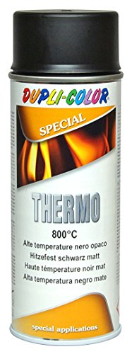 Dupli Color 401052 Thermo Vernice Spray, 800 Gradi Celsius, 400 ml, Nero Opaco