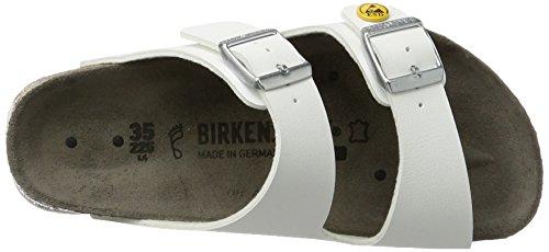 BIRKENSTOCK Unisex-Erwachsene Arizona Birko-Flor ESD Pantoletten Weiß (Weiß)