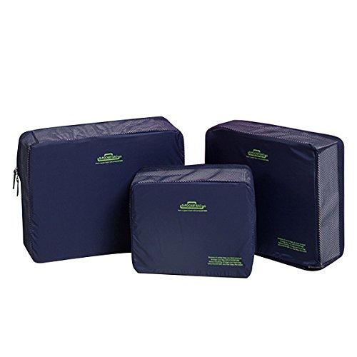 3Pz Imballaggio cubi bagagli di corsa Organizzatore Borse leggero pattino sacchetto impermeabile di immagazzinaggio della lavanderia della lavata Borse Kit Custodia per Viaggiare Camping Deposito