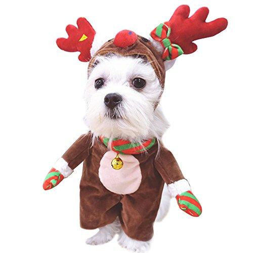 Weihnachten Elk Hund Kostüm für Haustier Katze Outfits Kleidung mit Hund (Halloween Elch Kostüme)
