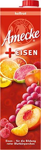 Guaven-vitamin C (Amecke + Eisen hellrot - 100 Prozent Saft, 6er Pack (6 x 1 l))